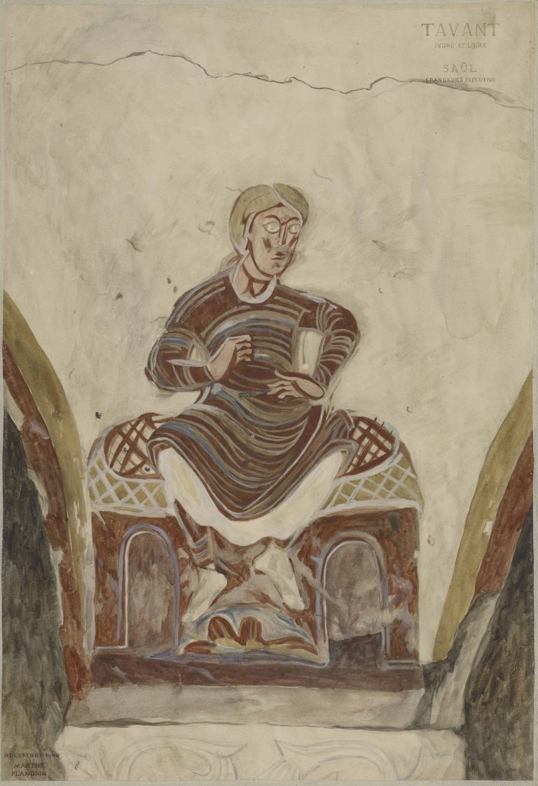 Relevé de peinture murale de l'église de Tavant