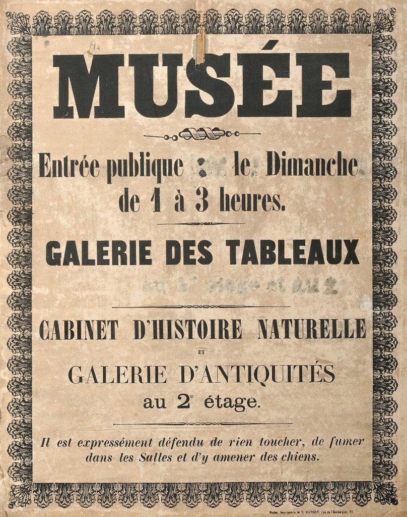 Première affiche du musée Fenaille photo T. Estadieu