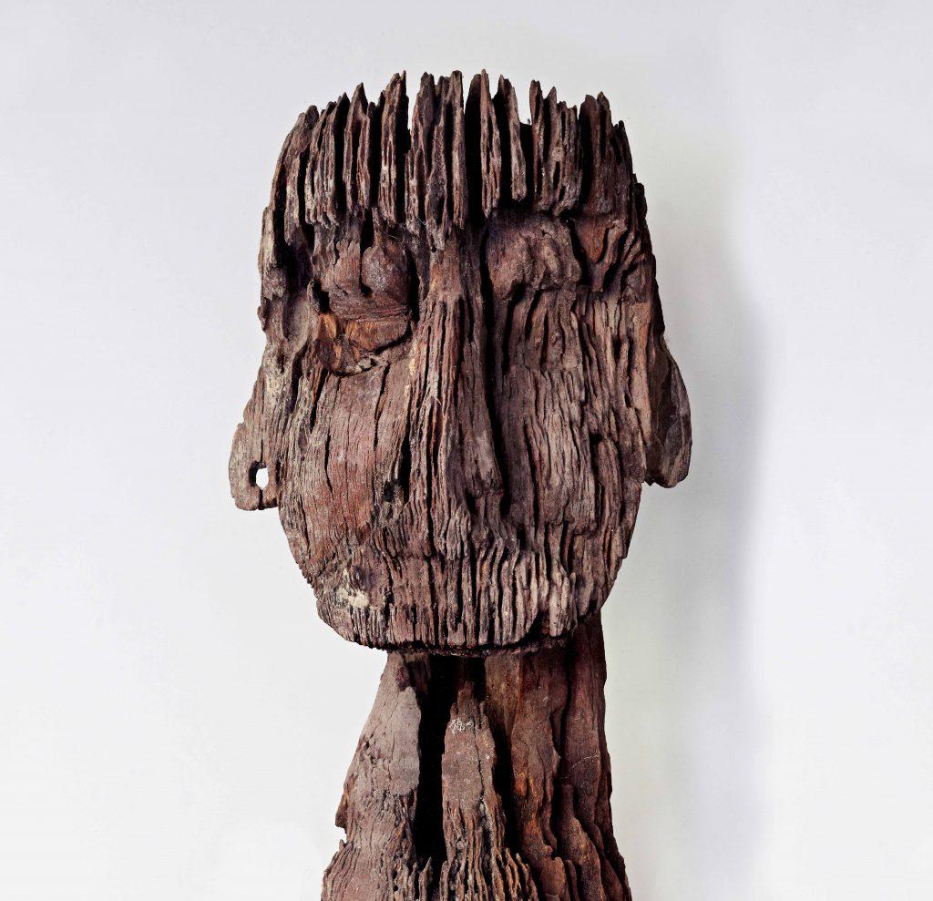 Figure d'ancêtre Hampatong, Dayak Bornéo (Indonésie)