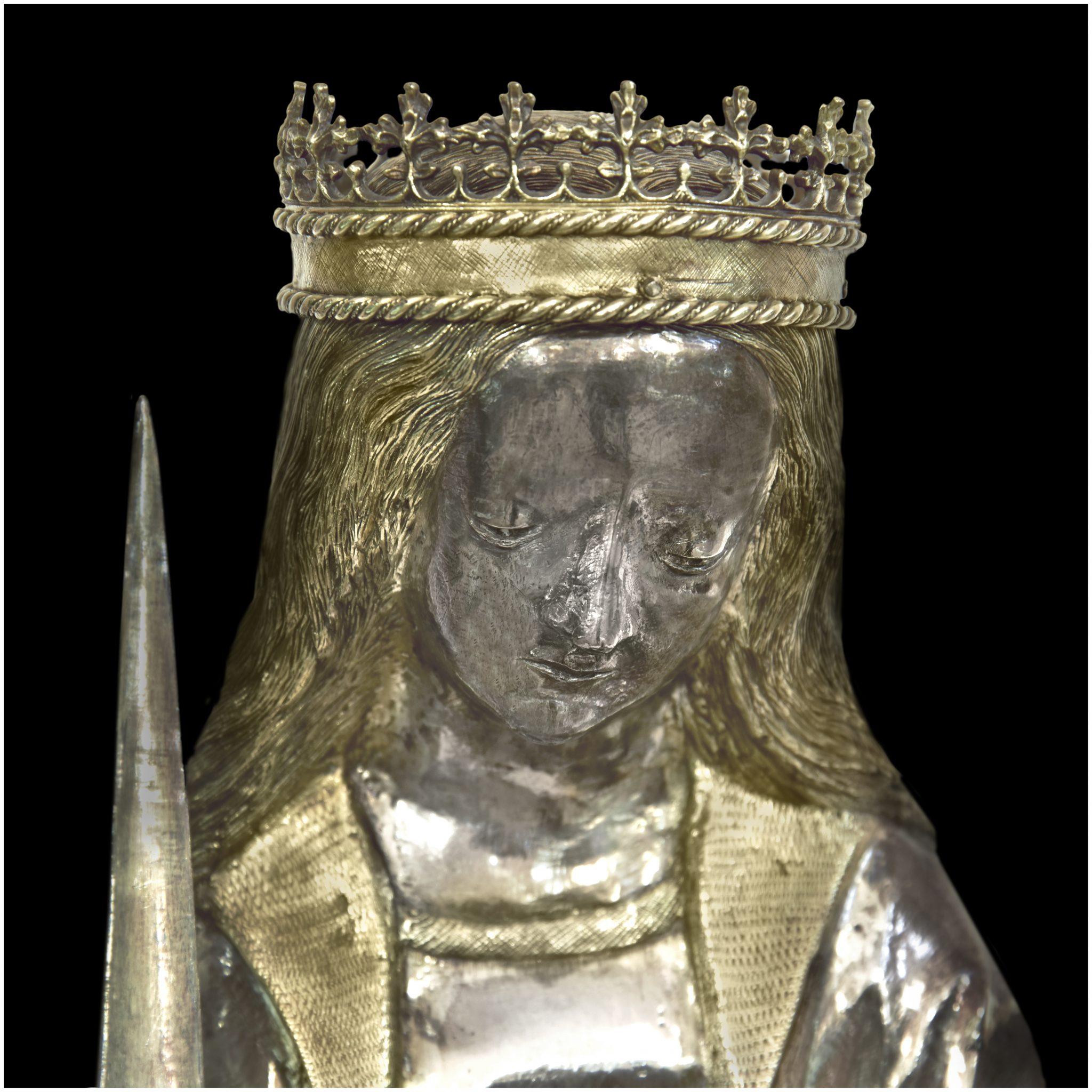 Statuette de sainte Foy (détail) © Commune de Conques-en-Rouergue / DRAC Occitanie / Jean-François Peiré