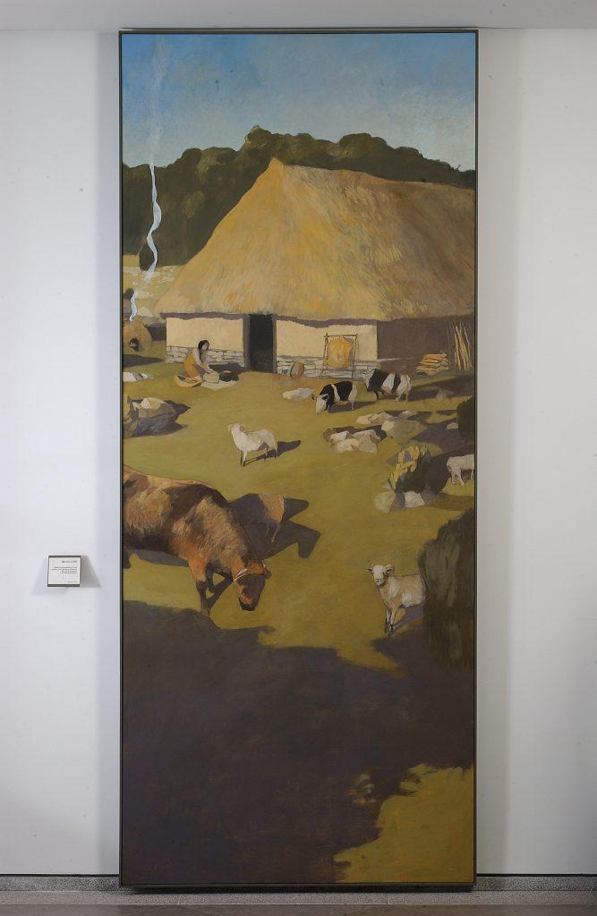 Essai de reconstitution de la maison de La Vayssière (peinture de Michel Cure)