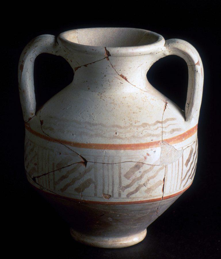 Vase en céramique à décor peint