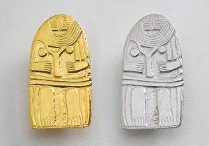 Broches argent Dame de Saint Sernin
