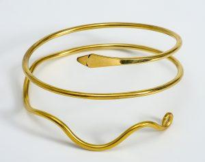 Bracelet de bras gallo-romain à tête de serpent